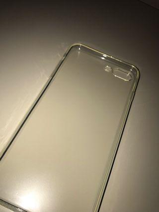 2 Fundas silicona trasparente iPhone 7;8Plus