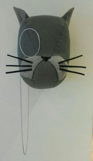 Cabeza de gato de tela tipo softheads