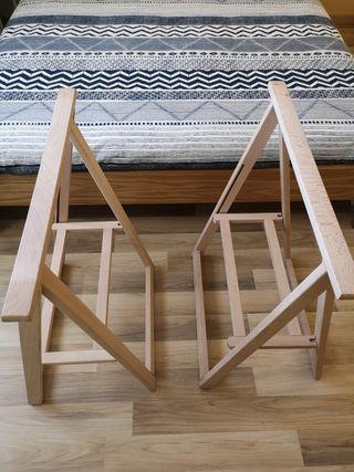 2 caballetes madera Leroy Merlín
