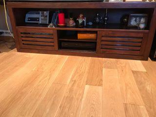 Mueble TV más Vitrina de madera