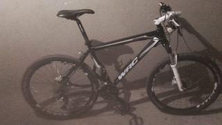 bicicleta wrc con frenos hidráulicos.