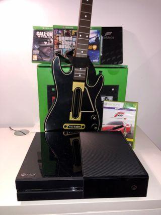 Xbox one 500GB mas guitar hero