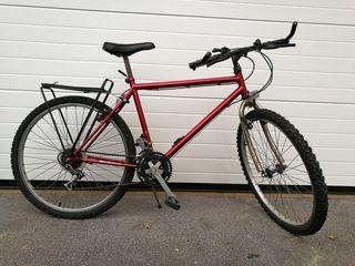 Bicicleta de montaña con porta bultos