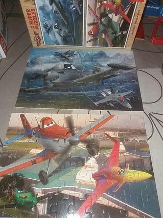 2 puzles piezas de madera 50 piezas Educa