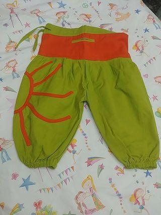 pantalón verano bombacho hippie 9-12 meses