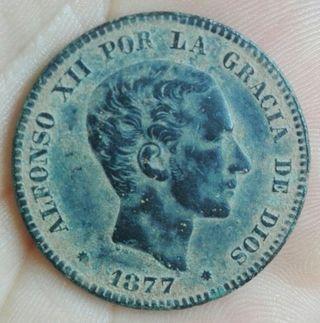 moneda 10 céntimos de 1877