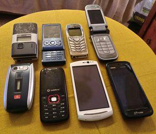 8 teléfonos para coleccionar y Funda de piel