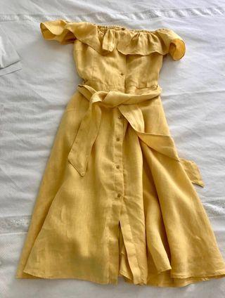 Precioso vestido de lino zara