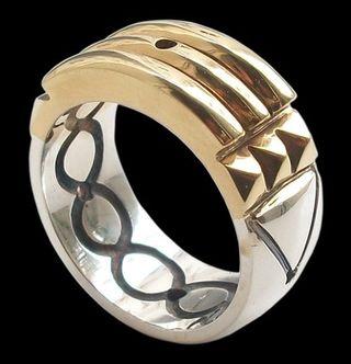 anillo Atlante en oro, plata o bicolor