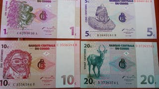 4 billetes congo