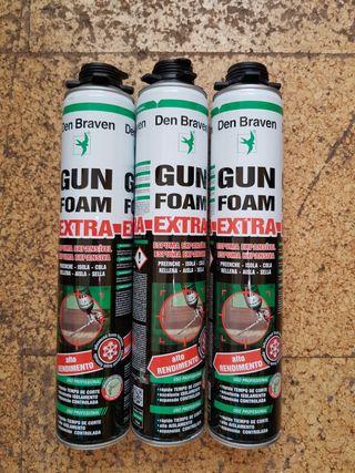 Espuma de poliuretano B2 para pistola 1x2,5€ 5x10€