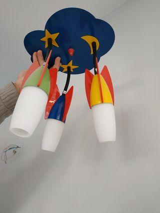Lámpara infantil cohetes