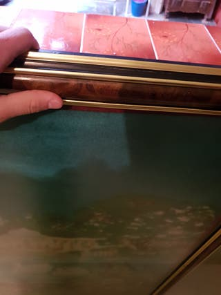tapiz pavo real enmarcado