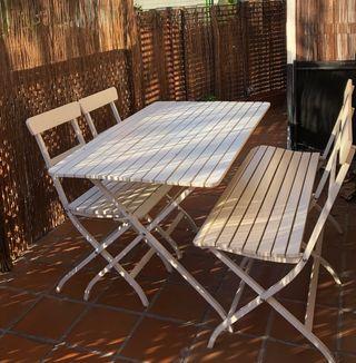 Conjunto jardín mesa y sillas