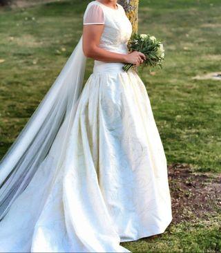 Vestido novia PRONOVIAS blanco roto