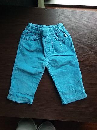 Pantalon bebe pana azul electrico Charanga