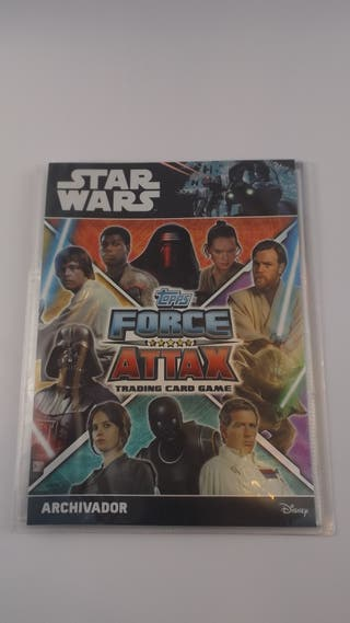 ALBUM STAR WARS TOPPS FORCE ATTAX TRADING CARD