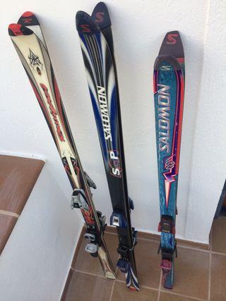Sky, esquís 1,70 Rossignol y Salomon