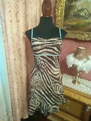 vestido talla S leopardo estampado animal print