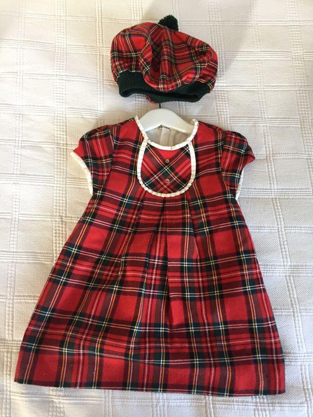 Vestido niña escocés con boina 2 años de segunda mano por 10 € en ... 9011ed19741