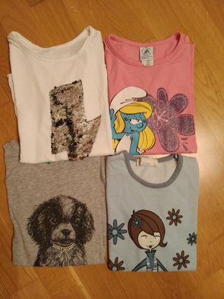 4 camisetas niña 7-8