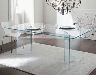 Mesa de comedor de cristal perfecto estado