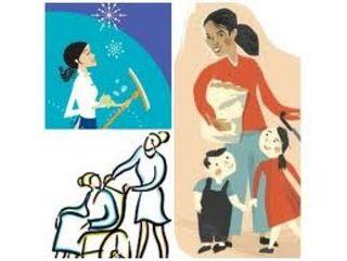 limpieza y cuidado de niños mayores.