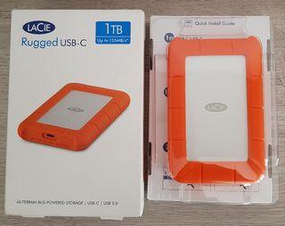 Nuevo en caja, disco duro Lacie Rugged 1TB