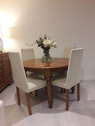 Mesa comedor madera de segunda mano en wallapop for Super chollo muebles
