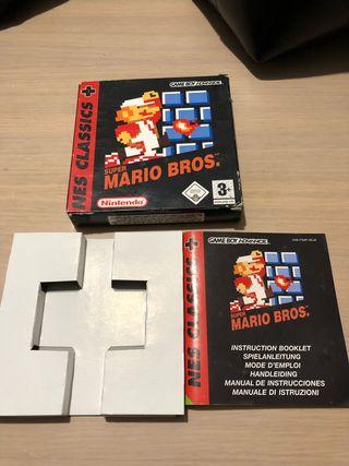 Caja y manual Super Mario Bros