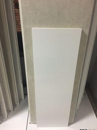 Azulejo 30x90 rectificado blanco brillo y mate