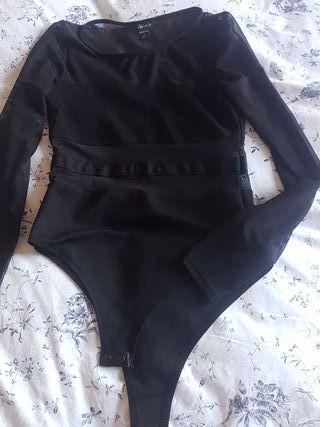 body negro trasparente