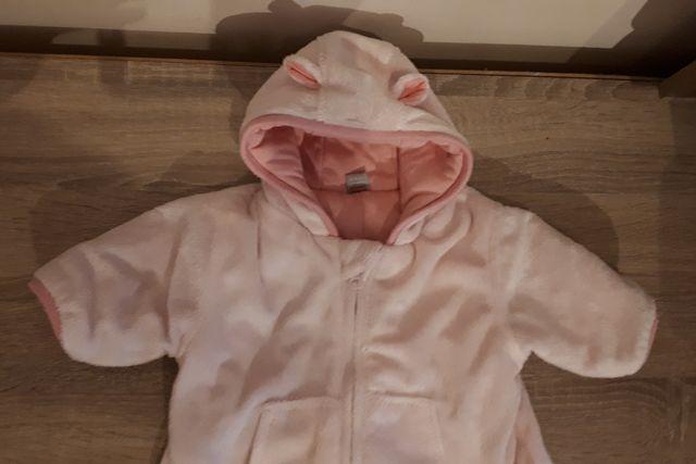Buzo osito rosa bebe 0-3 meses