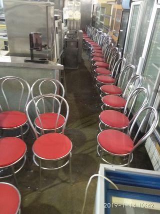 sillas metálicos tapizados bar salón restaurante