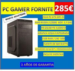 PC GAMER RYZEN 3 CON FORNITE NUEVO CON GARANTIA