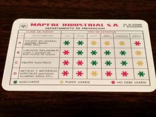 Calendario Fournier 1975 Mapfre Industrial