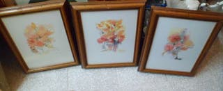 3 cuadros aquarelas