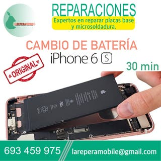 Cambiar batería iPhone 6s reparar batería 6s bate