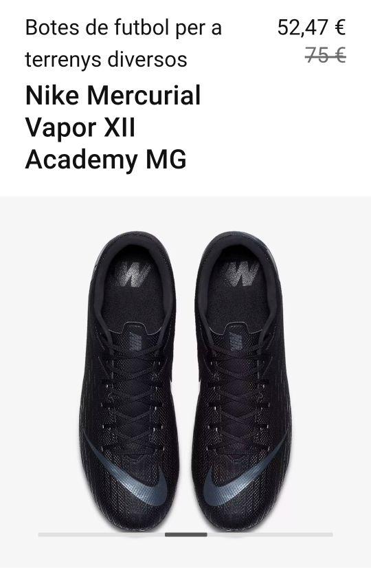 f0b52436ef72d Botes de futbol Nike Vapor 12 Academy Fg Mg de segunda mano por 38 ...