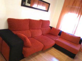 sofa extensible 3 plazas+cheslong+4 puff