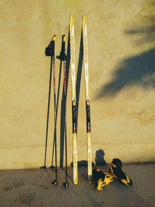esquis de fondo patinador + botas