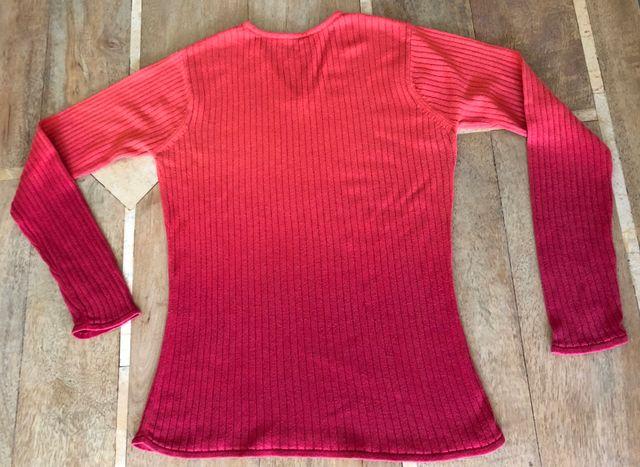 pull ML Rouge dégradé 100% coton T. S ou XS