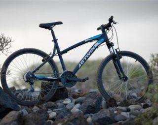 """Bicicleta BTWIN ROCKRIDES 340 gris 26"""" NUEVA"""