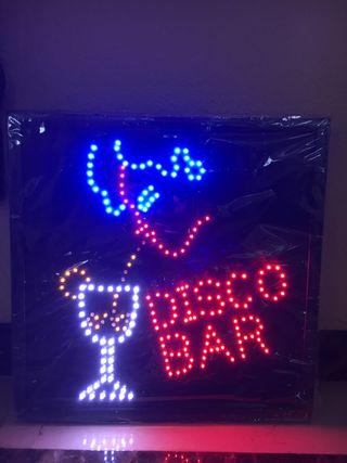 "Cartel luminoso led ""DISCO BAR"" nuevo"