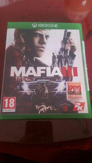 vendo juego de mafia III de xbox one.