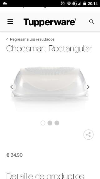 Cheesmart rectangular Tupperware
