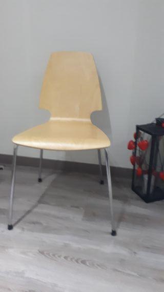 Conjunto 4 sillas madera