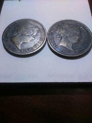 monedas plata 2 escudos