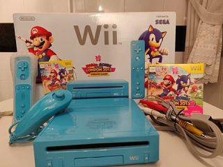 Nintendo Wii consola azul