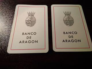 Calendarios Fournier Banco de Aragon 1967 1968
